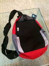 "Shoes For Crews School Bag Backpack Atom bag Black&Red NWT Unisex 19""x11""x4"""