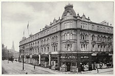 D M Brown's Store, Dundee, Scotland 1907 antique print in 11 x 14 mount