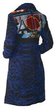 DESIGUAL WINTER COAT - (EU42) with All-over Embroidered Pattern
