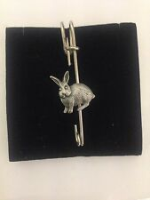 "Rabbit R94 Pewter Emblem Kilt Pin Scarf or Brooch 3"" 7.5 cm"