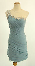 NWT Jovani Size 2 Short Knee-Length Evening $500 Homecoming Prom Seafoam Dress