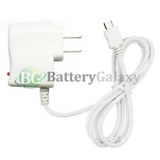 100x White Micro USB Battery Travel Home Wall AC Charger For Android Cell Phone
