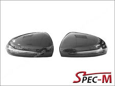 Carbon Fiber Replacement OEM Mirror Cover w/ LED for 2015+ W205 C450 C43 Coupe