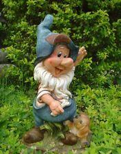 XL Design Nain avec Chien 38 cm Haut Figurines De Jardin Gnome Décoration
