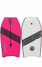 "New Triple X ""The Elixir"" 42"" Bodyboard/Boogieboard/Pink/With Coiled Leash"