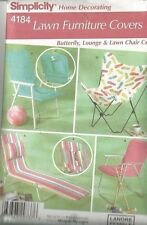 LAWN FURNITURE COVERS - SIMPLICITY Home Decor Pattern #4184