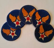Lot 5 Patches US Air Forces USAAF WW2 100% ORIGINAL