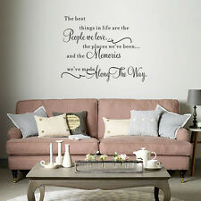 Home Room Decor DIY Quote Word Decal Vinyl Art Wall Stickers Bedroom Removable