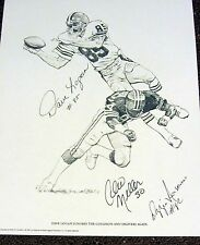 Cleveland Browns 1981 PRINT - SIGNED - Dave Logan, Cleo Miller & Ozzie Newsome