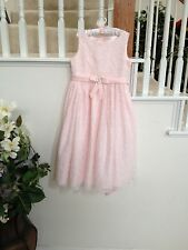 American Princess Pink Sheer Sequin Dress Size 7