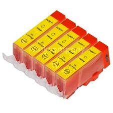 5 Tintenpatronen CANON + Chip CLI-521 Y MP 620 MP 630 MP 640 NEU
