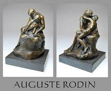 ORIG. BRONZE SKULPTUR A. RODIN * DER KUSS *LE BASIER*15,5 cm