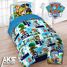 PAW Patrol 4-Piece Bedding Set: Comforter, Pillowcase, Fitted & Flat Sheet, Tote