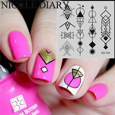 Nail Art Stamp Plate Image Stamping Manicure Template Geometry Pattern ND108