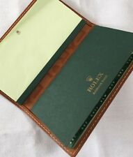 ORGANISER-VERY RARE ROLEX STITCHED LEATHER NOTEBOOK / ADDRESS BOOK COVER
