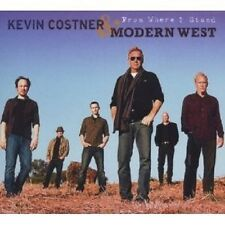 "KEVIN COSTNER & MODERN WEST ""FROM WHERE I STAND"" CD NEU"
