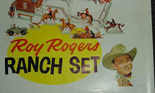 1955 ROY ROGERS RANCH POST CEREALS PREMIUM GROCERY STORE SIGN COUNTRY STORE SIGN
