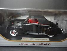 Signature Models Lincoln Zephyr 1939 Black 1/18