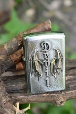 Zippo Lighter - Wing of a Devil Emblem - European - Satan - Wings - 2.002.571