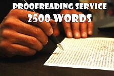 Proofreading Service for Written Content - 2500 Words - Edit Grammar & Spelling