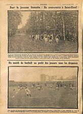 Cross-Country Saint-Cloud Pierre de Coubertin Match Football Red Star WWI 1914