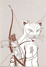 POSTCARD CARTE POSTALE Dessin DE YVAN MAUGER / SIGNEE ASTROLOGIE CHINOISE CHAT
