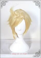 Final Fantasy 15 XV FFXV Prompto Argentum Golden Cosplay Costume Wig