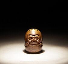Handmade Red Brass Bodhidharma Parachute Cord Buddha Beads Lanyard Bead pendant