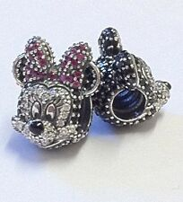 Limited Edition Pandora Disney Parks Mickey & Minnie Mouse Pave Portrait Charms