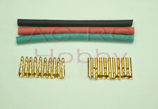 2mm banana bullet Connector 10 pairs with heat shrink tube KK 250