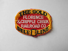 VINTAGE- THE GOLD BELT LINE FLORENCE & CRIPPLE CREEK RAILROAD CO PATCH