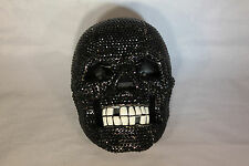 Rhinestone Skull Telephone with Bling in Black Unique Design N 234