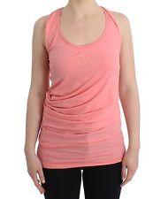 NWT $150 CLASS ROBERTO CAVALLI Light Pink Cotton Tank Top Blouse Cami IT40/US6