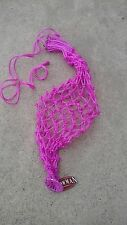 "Showman Pink 42"" slow feed net hay bag Large sz w/ 2"" x 2"" openings #24803"