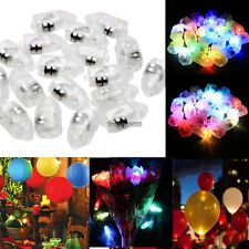 Lot 100PCS LED Light Paper Lantern Balloon Lamp for Christmas Wedding Party ED