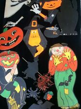 Vintage Distressed Halloween Lot Wall Decor Variety Paper Die cut Litho
