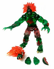 Sota Street Fighter Blanka translúcido Video Juego Figura w/accessory Rara!