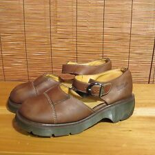 Dr. Martens, Mary Jane Brown Leather UK 7 USA 9.5 - 10 Made in England.