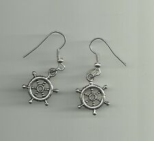Ship Boat Steering Wheel Earrings / Earing Charms