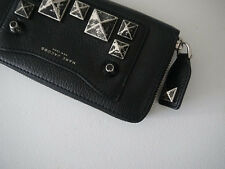 NWT Marc Jacobs Recruit Chipped Studs Standard Continental Wallet, black, One