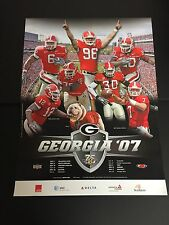 Georgia Bulldogs Football 2007 Matt Stafford & Thomas Brown Schedule Poster