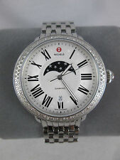 Michele Serein Diamond Bezel Moon Phase Stainless Watch MW21D01A1981 Refurbished