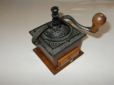Upper Deck Ltd. vintage cast iron and wood small coffee grinder parts decor READ