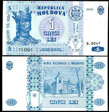 MOLDOVA 5 LEI 2006 P 9 UNC
