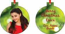 Personalized Ariana Grande Ornament ( Add Any Message You Want)