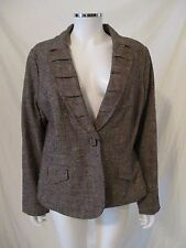 New w/tag Coldwater Creek Brown Tweed Blazer Jacket 16