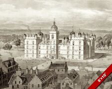 GEORGE HERIOTS SCHOOL EDIBRUGH SCOTLAND PAINTING ARCHITECTURE ART CANVAS PRINT