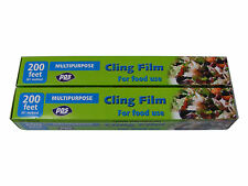 2 ROLLS OF 61M x 300mm KITCHEN CLING FILM / CLINGFILM (122 METRES IN TOTAL)