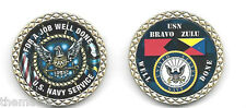"NAVY SERVICE BRAVO ZULU FOR A JOB  WELL DONE 1.75"" MILITARY CHALLENGE COIN"