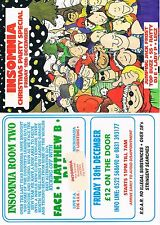 INSOMNIA Rave Flyer Flyers 18/12/92 A5 The Drill Hall Lincoln